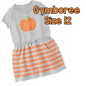 GYMBOREE GIRLS 12 Pumpkin Sweater Dress
